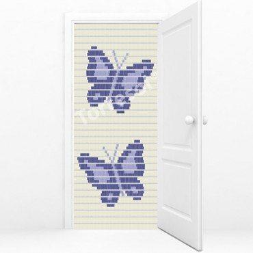 Vliegengordijn torresol kant-en-klaar vlinders paars/lila 3B