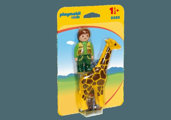 Playmobil 9380 dierenverzorger met giraf 1.2.3