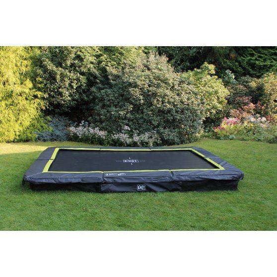 EXIT Silhouette inground trampoline 244 x 366 cm – zwart