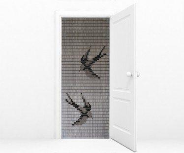 torresol vliegengordijn zwaluwen kant klaar transparant 90 x 210 cm