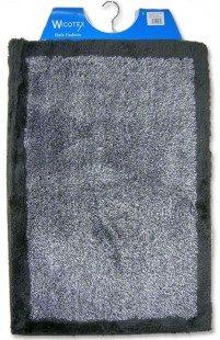 Badmat 60 x 90 cm zwart grijs