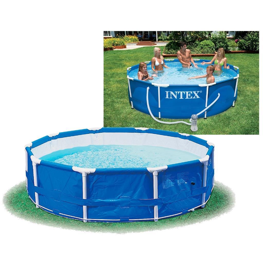 intex 28212gn metal frame pool 366 x 76 cm met filter en pomp outlet shopping. Black Bedroom Furniture Sets. Home Design Ideas