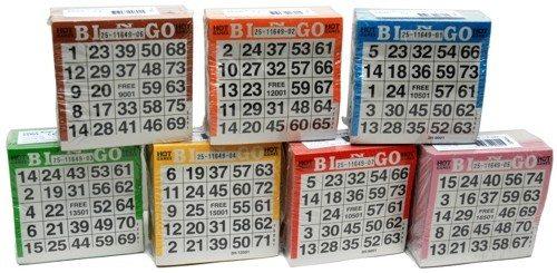 Bingokaarten pak 500 stuks 7 kleuren ass