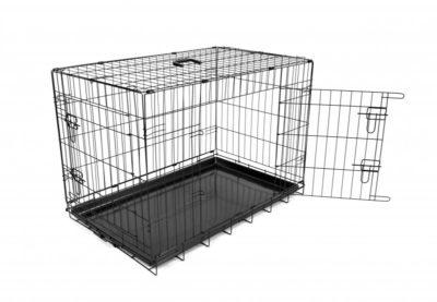 hondenbench 2 DEUREN plastic onderbak L