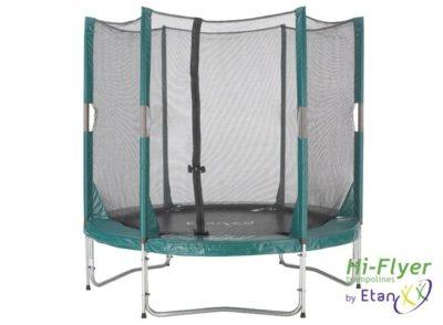 Hi-Flyer Trampoline met Veiligheidsnet 244 cm en trapje Groen