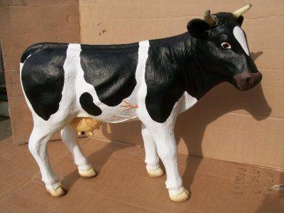 Koe zwart-wit staand