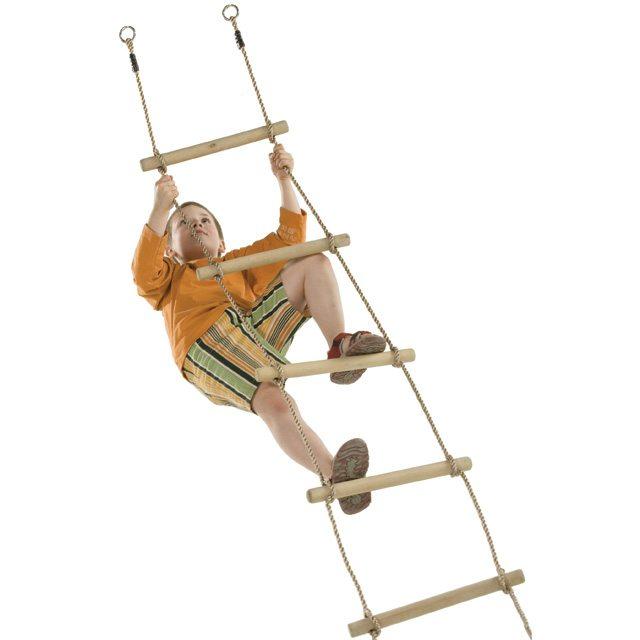 Houten touw ladder