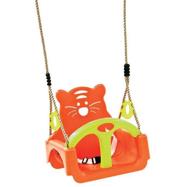 Baby zitje 'trix' Tijger Lux oranje
