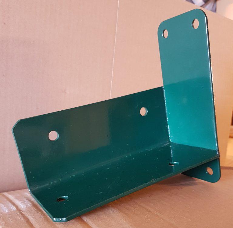Hoekverbinding muurmodel voor vierkante palen groen