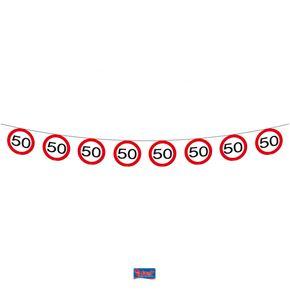 Vlaggenlijn Papier Verkeersbord 50