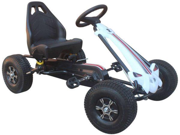 Skelter Volare Go Kart Big luchtbanden zwart wit