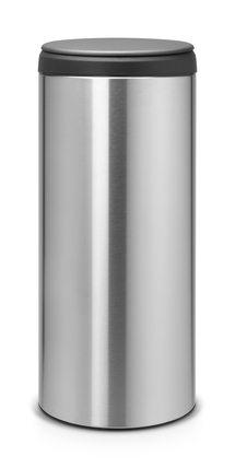 Brabantia Afvalbak 30 Liter.Brabantia Prullenbak Flipbin 30 Liter Matt Steel Outlet Shopping