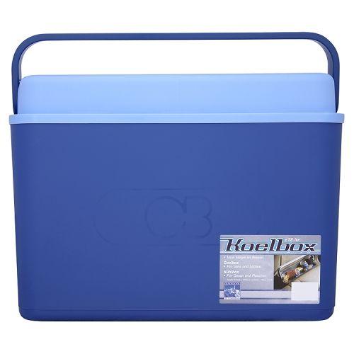 Koelbox blauw 12 liter blikjes/flessen smal model