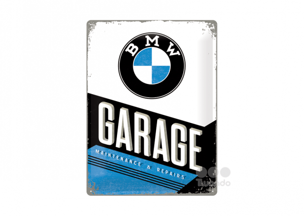 Art tin sign BMW garage