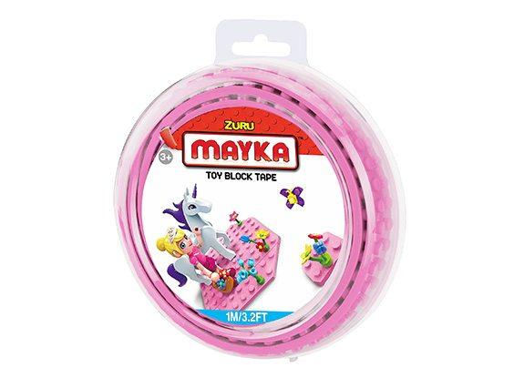 Mayka bouwblokjes tape 1 meter 2 knopjes