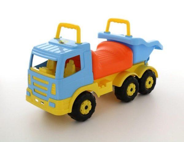 loopauto vrachtwagen truck met kiep bak