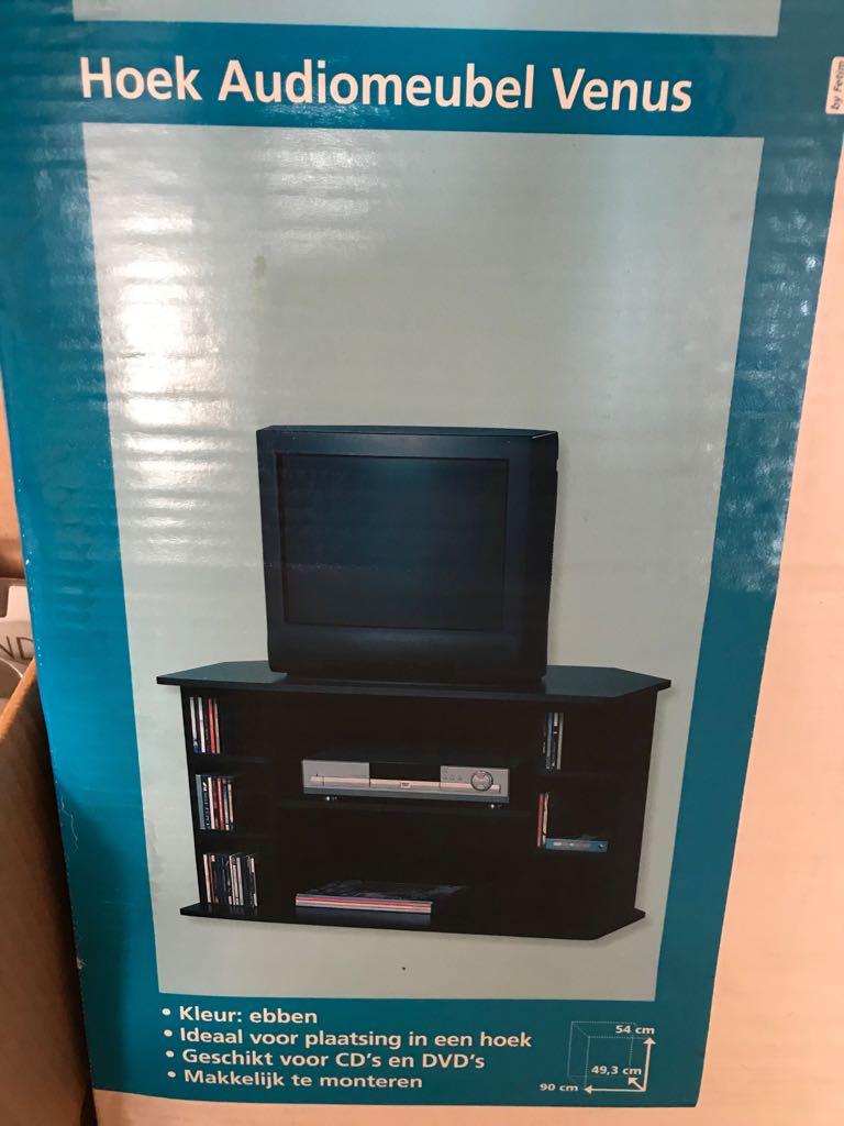 Hoek Tv Kast.Stevig Zwart Hoek Tv Meubel Venus Outlet Shopping