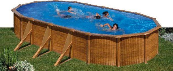 Zwembad Pacific set ovaal 730 x 375 x 120 cm.