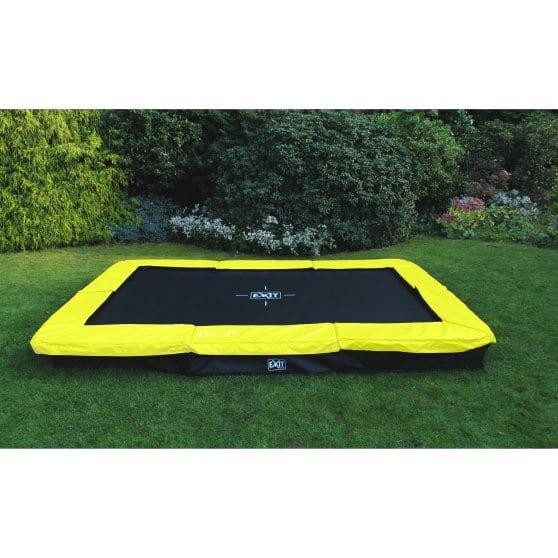 EXIT Silhouette inground trampoline 244 x 366 cm – groen
