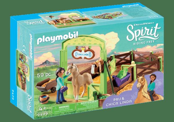 Playmobil 9479 Pru & Chica Linda met paardenbox
