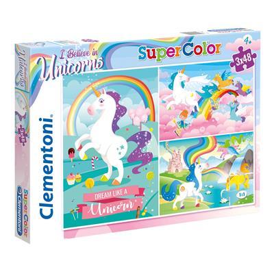 Puzzel Unicorn 3×48 stuks