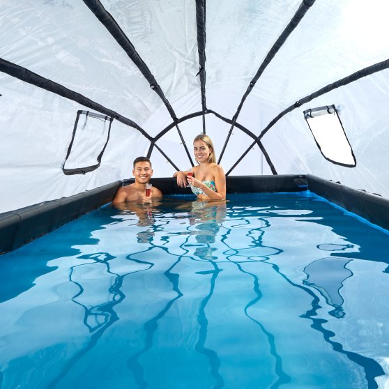 EXIT zwembad Stone 400x200cm met overkapping en filterpomp – grijs2