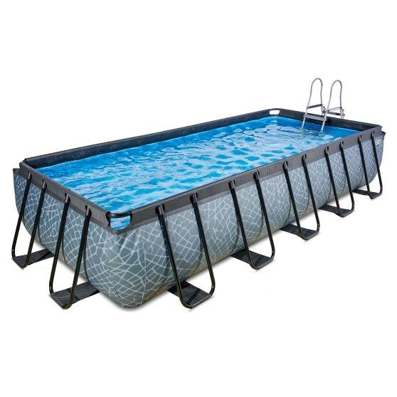 EXIT zwembad Stone 540x250cm met filterpomp – grijs