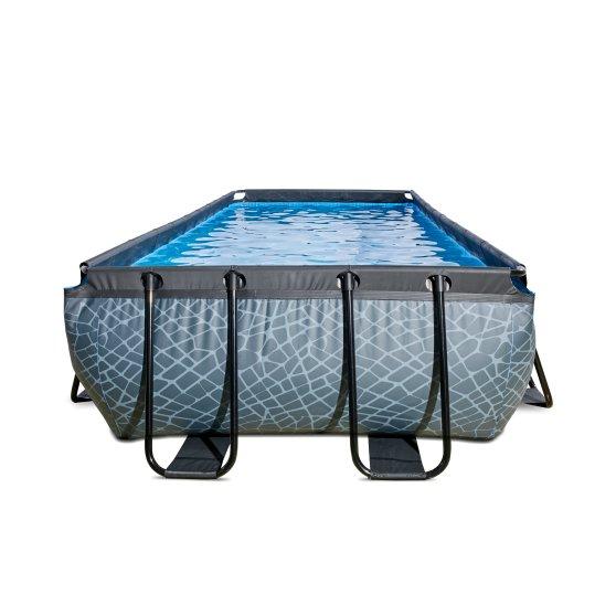 EXIT zwembad Stone 540x250cm met filterpomp – grijs1