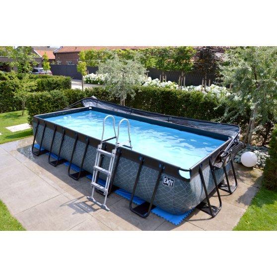 EXIT zwembad Stone 540x250cm met filterpomp – grijs3