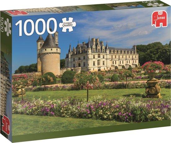 Kasteel in de Loire premium Jumbo puzzel 1000 stukjes