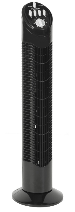 Bestron Towerventilator AFT60Z – Timer 120 Min. – Zwart – 50W