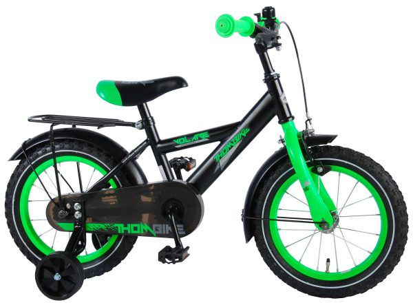 Volare 91403 Thombike Satin Black Green 14 inch jongensfiets