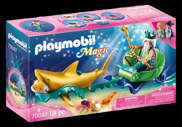 Playmobil 70097 Koning der zeeën met haaienkoets