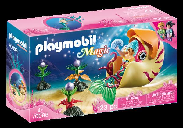 Playmobil 70098 Zeemeermin met zeeslakkengondel
