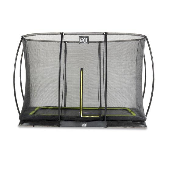 EXIT Silhouette inground trampoline 214x305cm met veiligheidsnet – zwart
