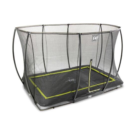 EXIT Silhouette inground trampoline 214x305cm met veiligheidsnet – zwart2