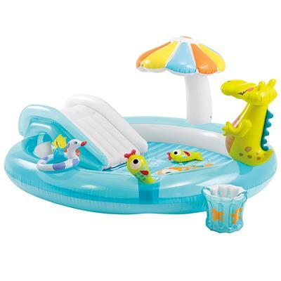Intex speelzwembad krokodil 203x173x89cm