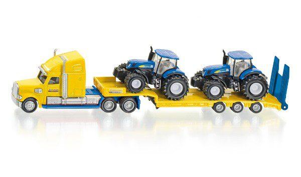 SIKU 1805 Vrachtwagen met New Holland tractoren