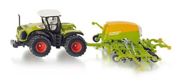 Siku 1826 Claas Xerion tractor met Cayena zaaimachine