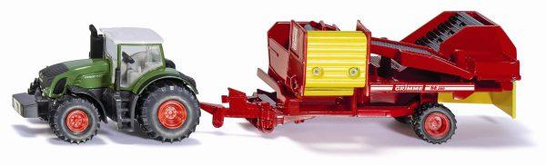 Siku 1808 Fendt tractor met aardappelrooier