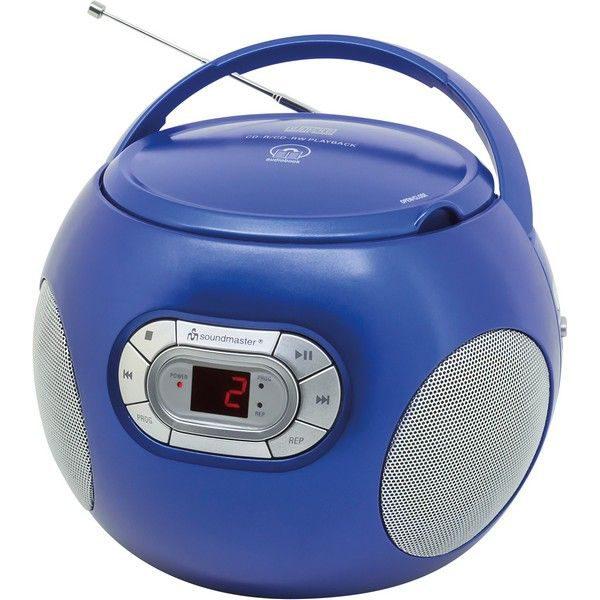 Soundmaster SCD2120BL Boombox met FM radio blauw