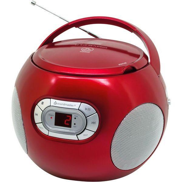 Soundmaster SCD2120RO Boombox met FM radio rood