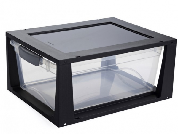 Omega Drawer unit 11L transp/Zwart