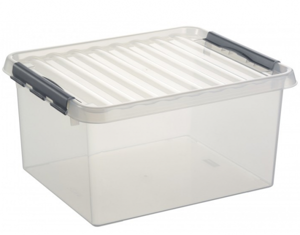 Opbergbox Q-Line 36L Transparant , Metaal