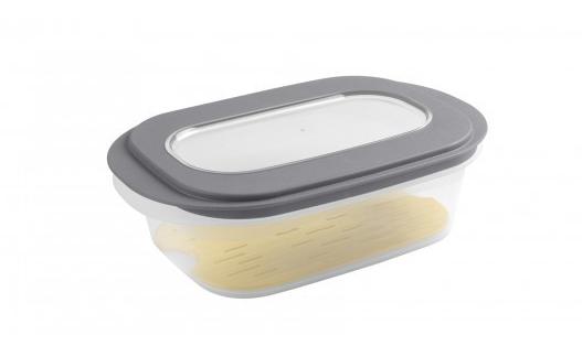 Sigma Home Kaasdoos met tray Transparant donkergrijs