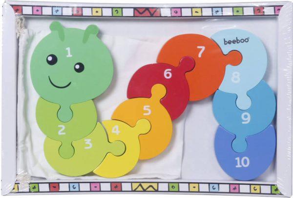 Beeboo cijferpuzzel rups, 10 stukjes
