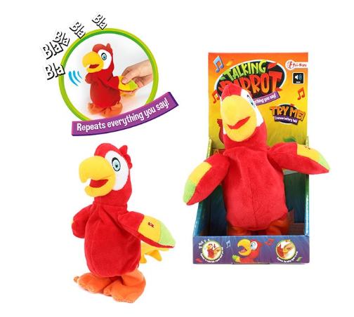 Papegaai -praat en hij beweegt